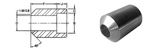 ASME B16.11 Socket Weld Boss dimensions