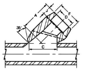 ASME B16.11 Socket Weld Lateral Outlet dimensions
