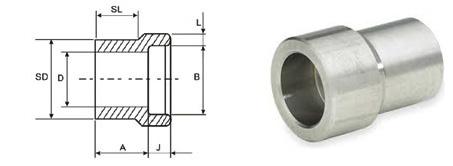 ASME B16.11 Socket Weld Reducer Insert dimensions