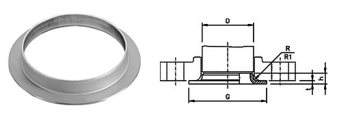 ASME B16.9 Buttweld Collar dimensions