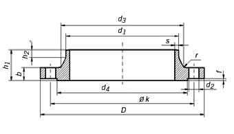 DIN 2633 PN16 Flange, Din 2633 pn16 flange dimensions, Din 2633 pn16